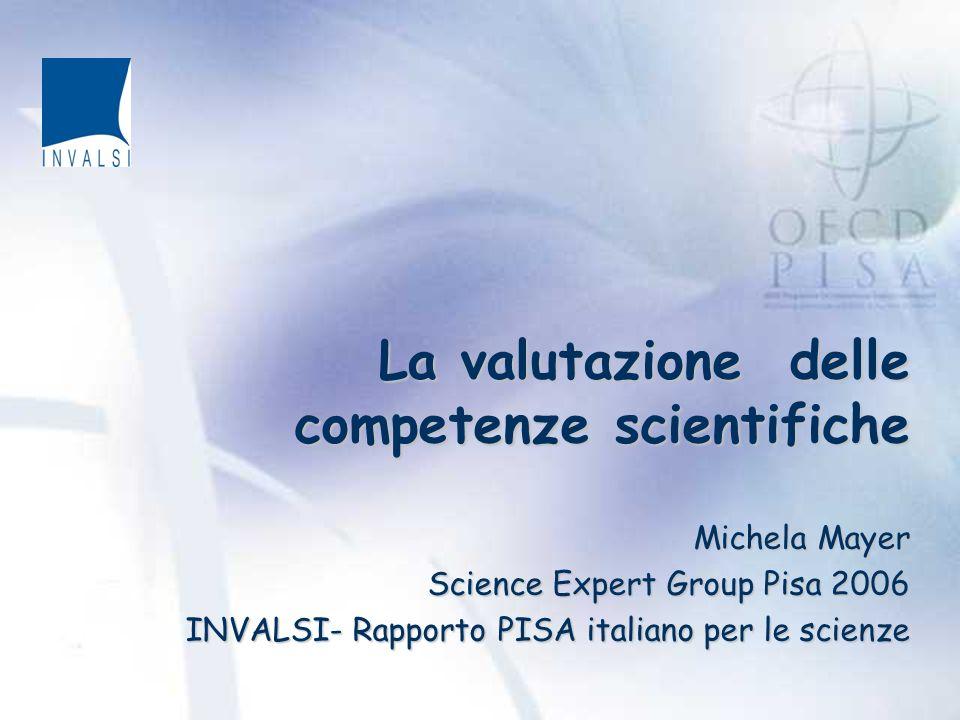 La valutazione delle competenze scientifiche