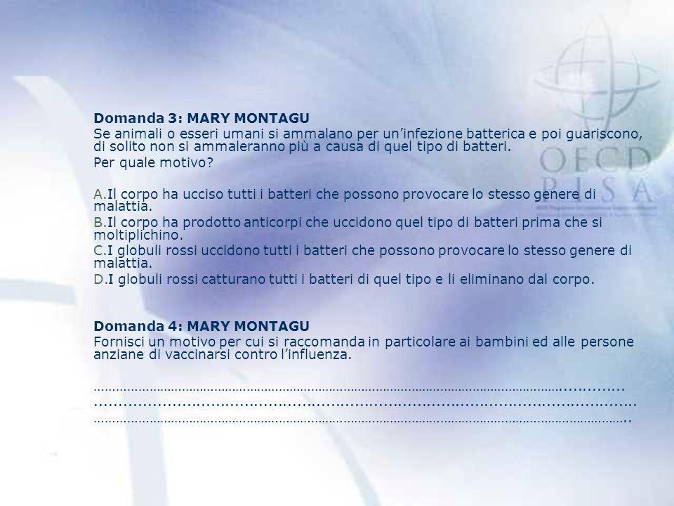 Domanda 3: MARY MONTAGU