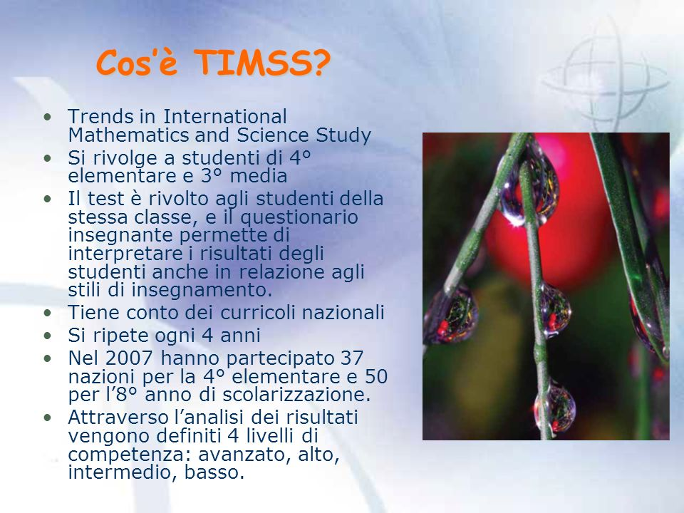 Cos'è TIMSS Trends in International Mathematics and Science Study