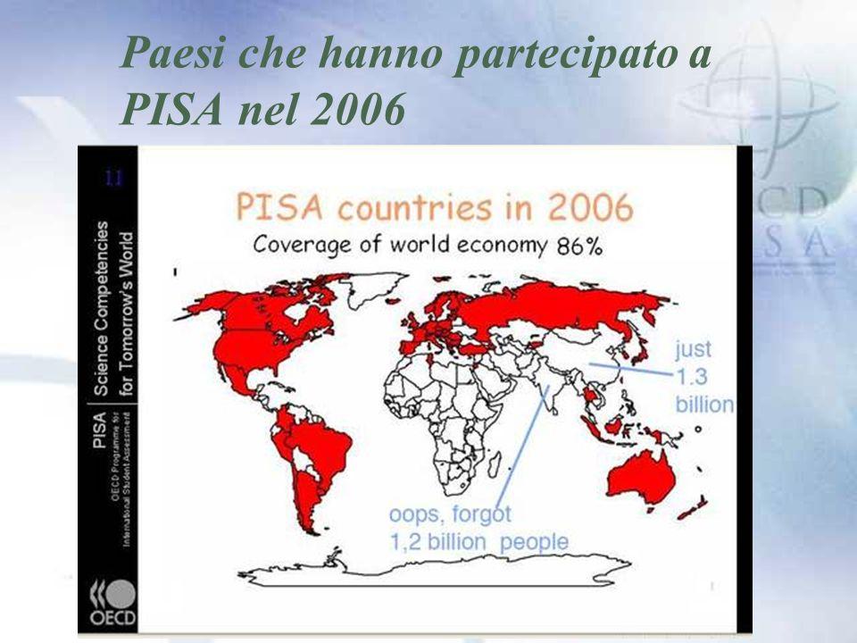 Paesi che hanno partecipato a PISA nel 2006