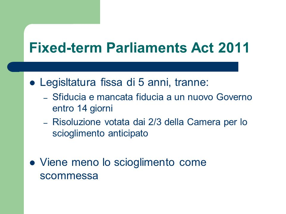 Fixed-term Parliaments Act 2011
