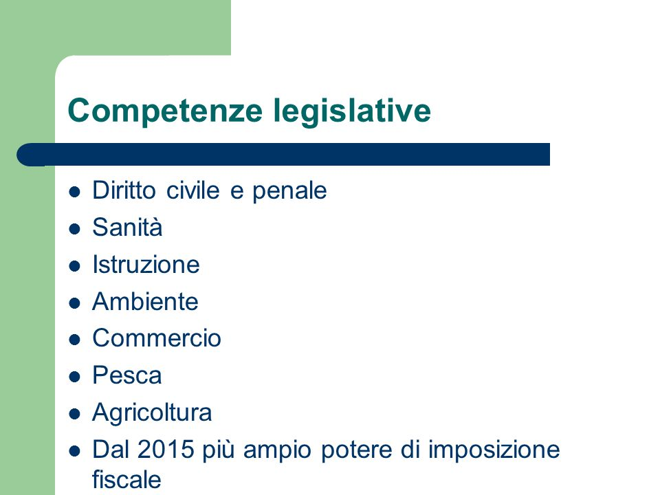 Competenze legislative