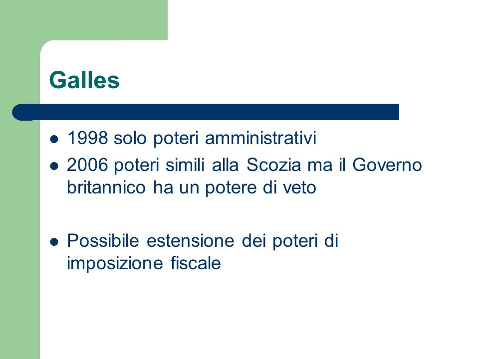 Galles 1998 solo poteri amministrativi