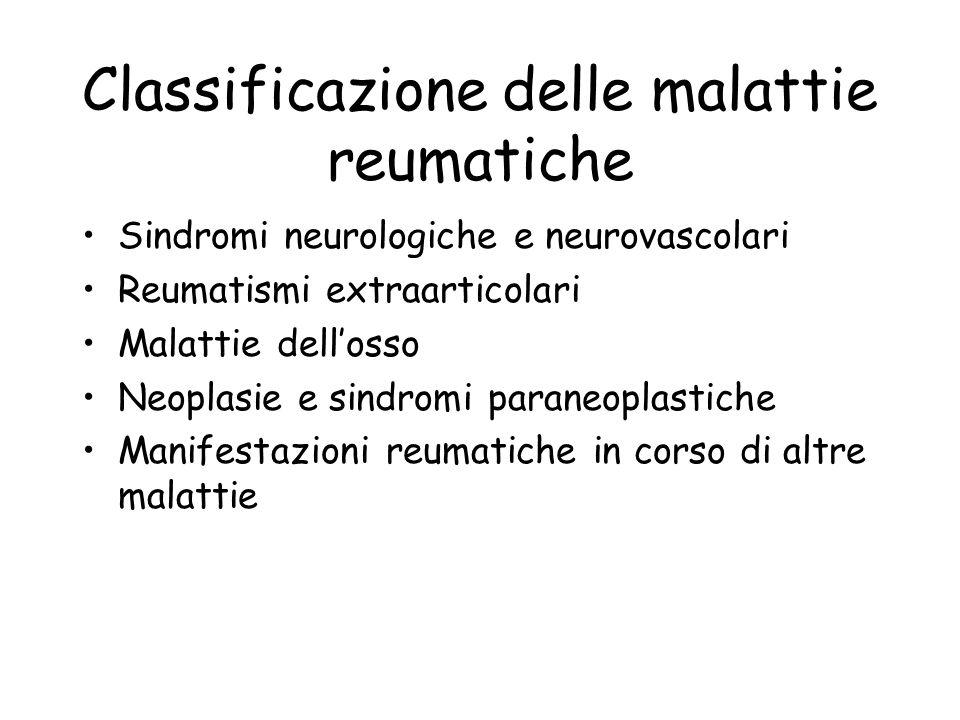 Classificazione delle malattie reumatiche