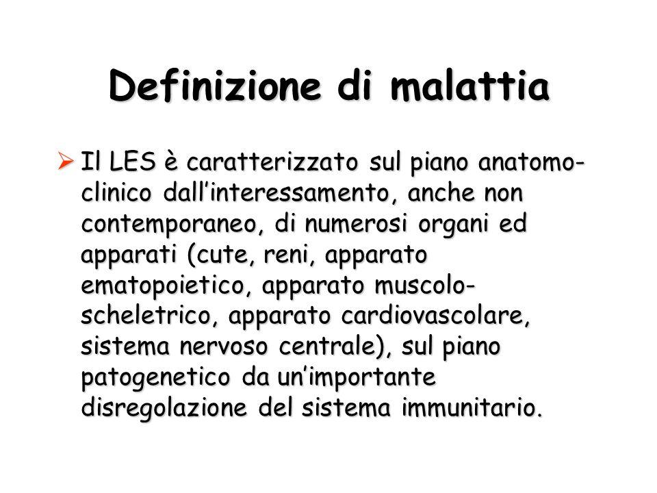 Definizione di malattia