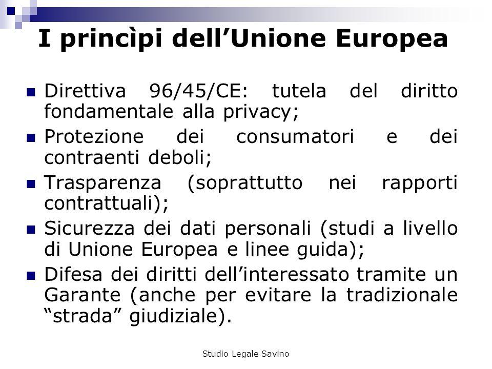 I princìpi dell'Unione Europea