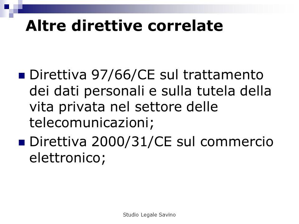 Altre direttive correlate