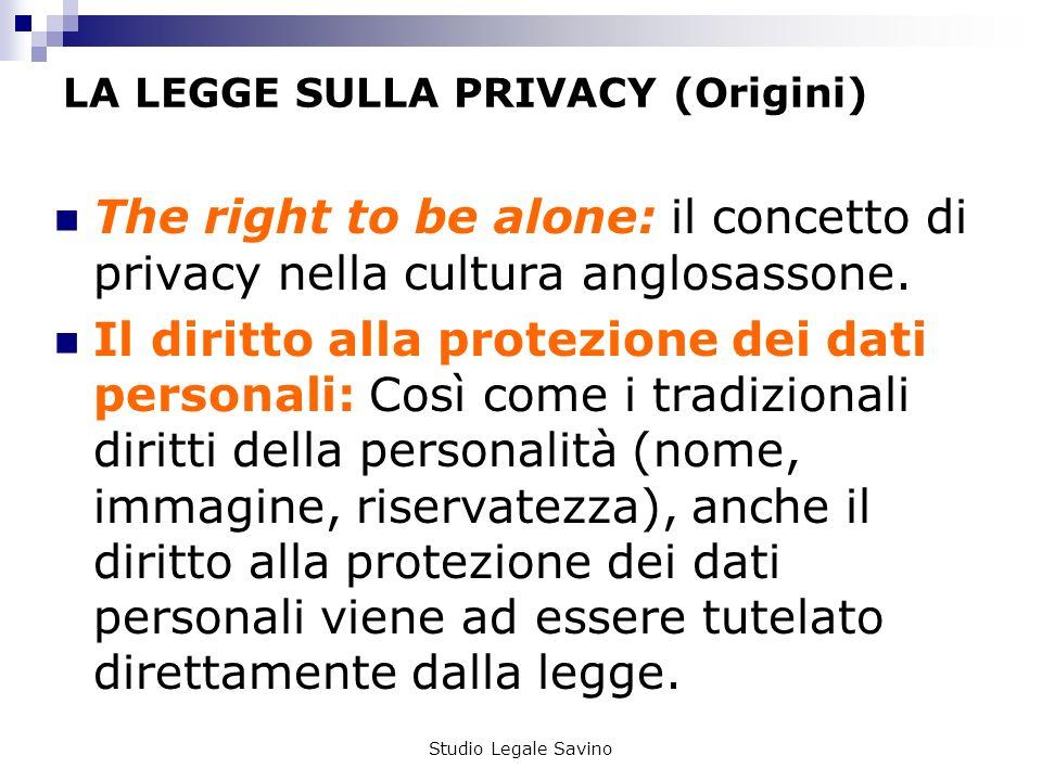LA LEGGE SULLA PRIVACY (Origini)