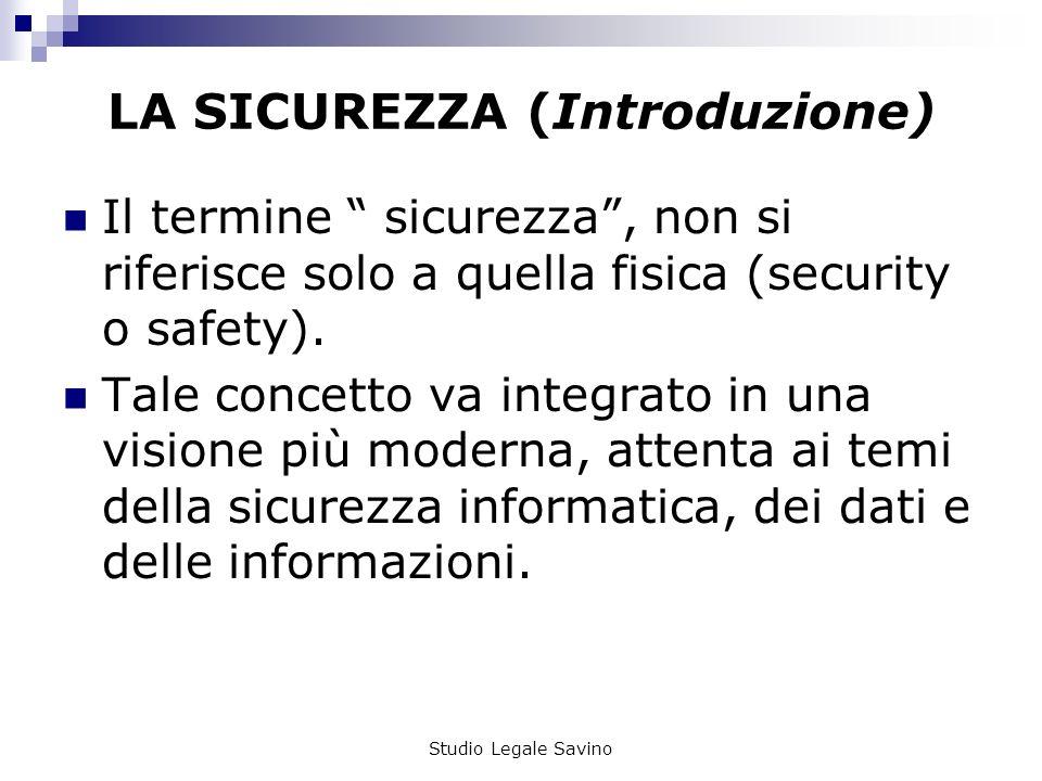 LA SICUREZZA (Introduzione)