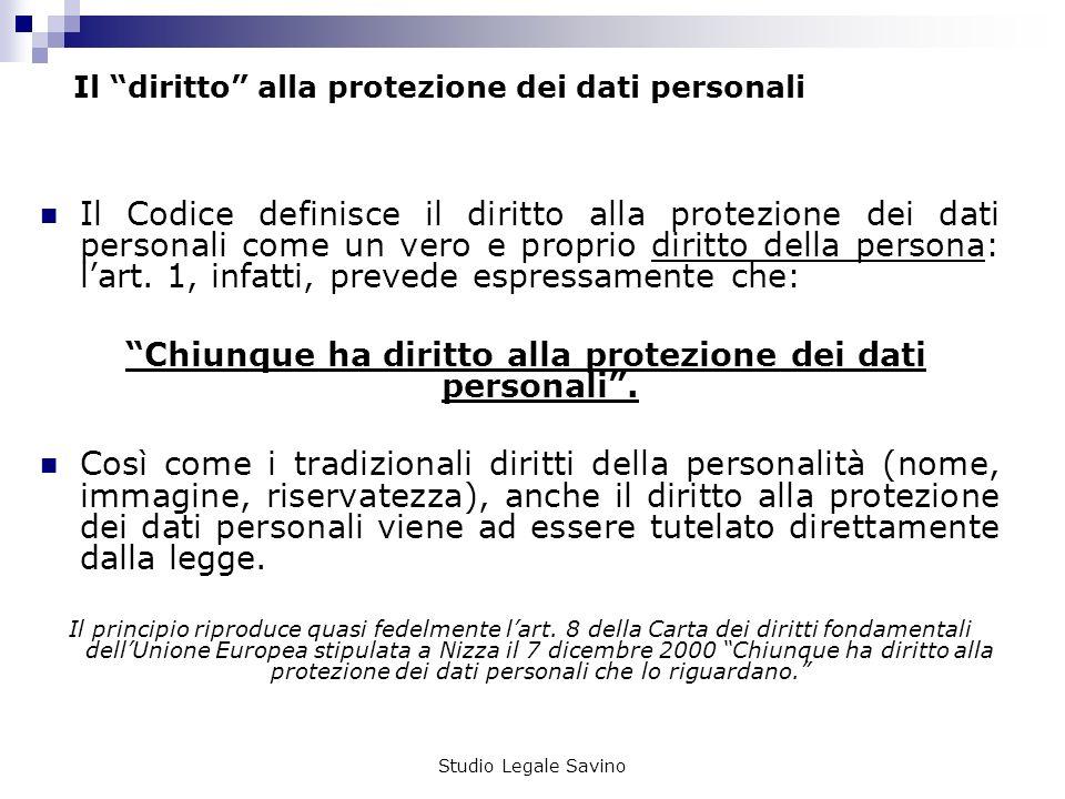 Il diritto alla protezione dei dati personali