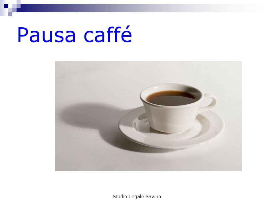 Pausa caffé Studio Legale Savino