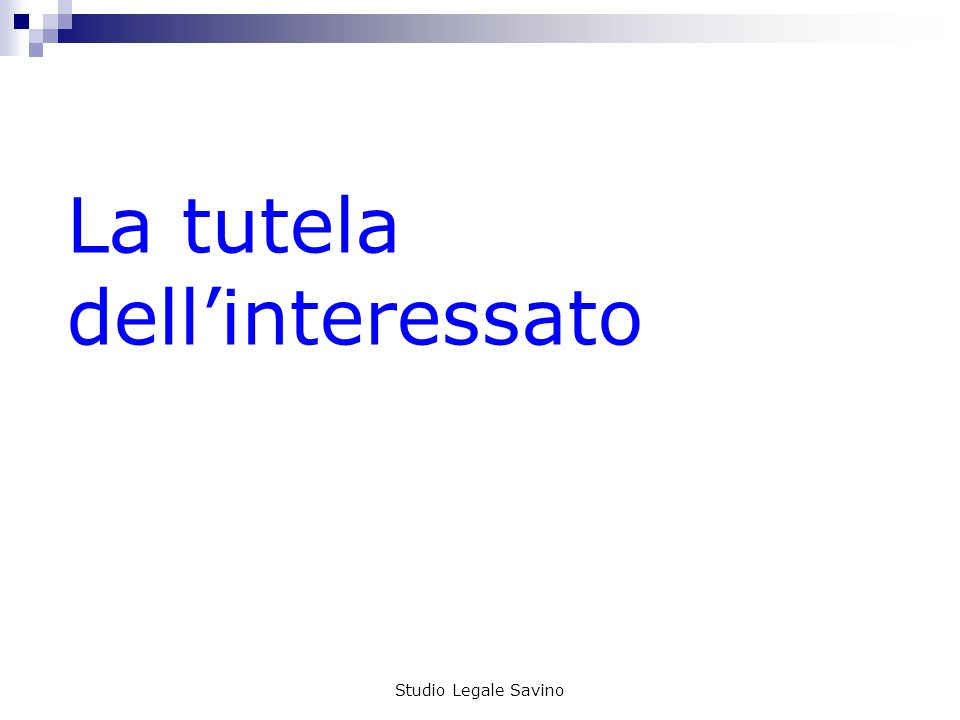 La tutela dell'interessato
