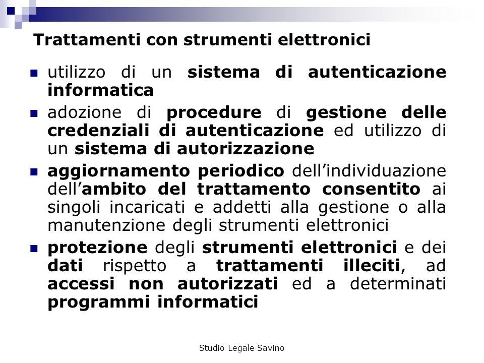 Trattamenti con strumenti elettronici