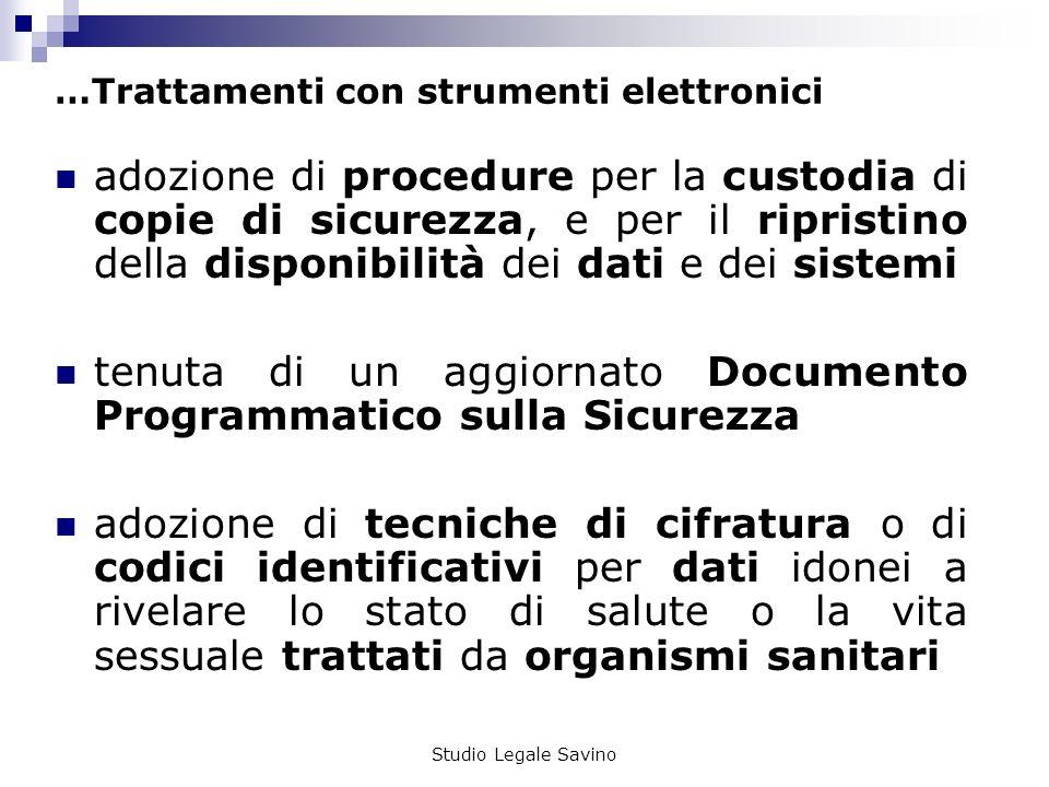 …Trattamenti con strumenti elettronici