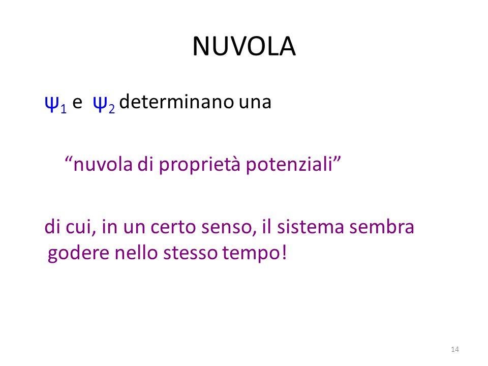 NUVOLA ψ1 e ψ2 determinano una nuvola di proprietà potenziali