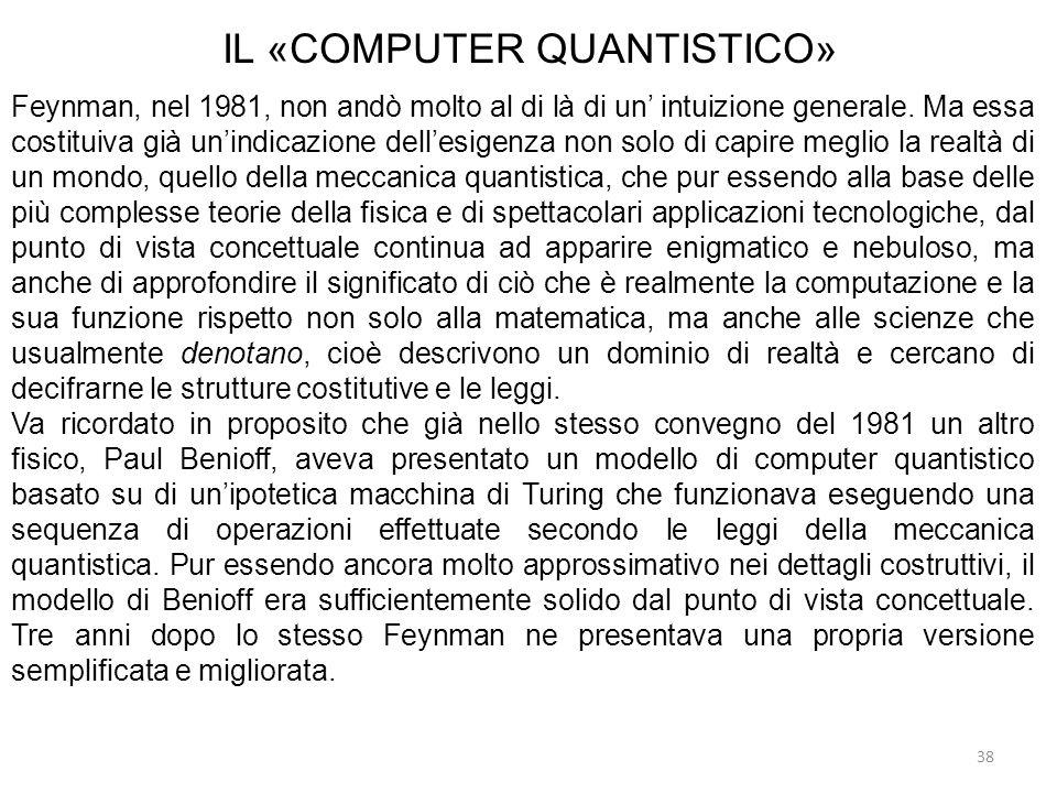 IL «COMPUTER QUANTISTICO»