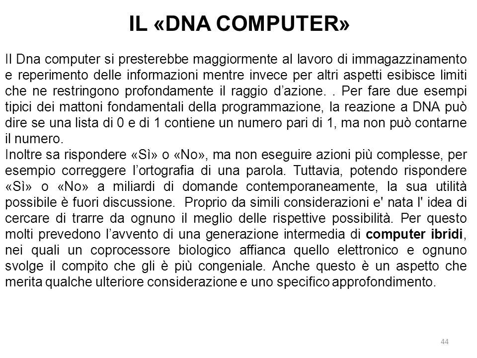 IL «DNA COMPUTER»