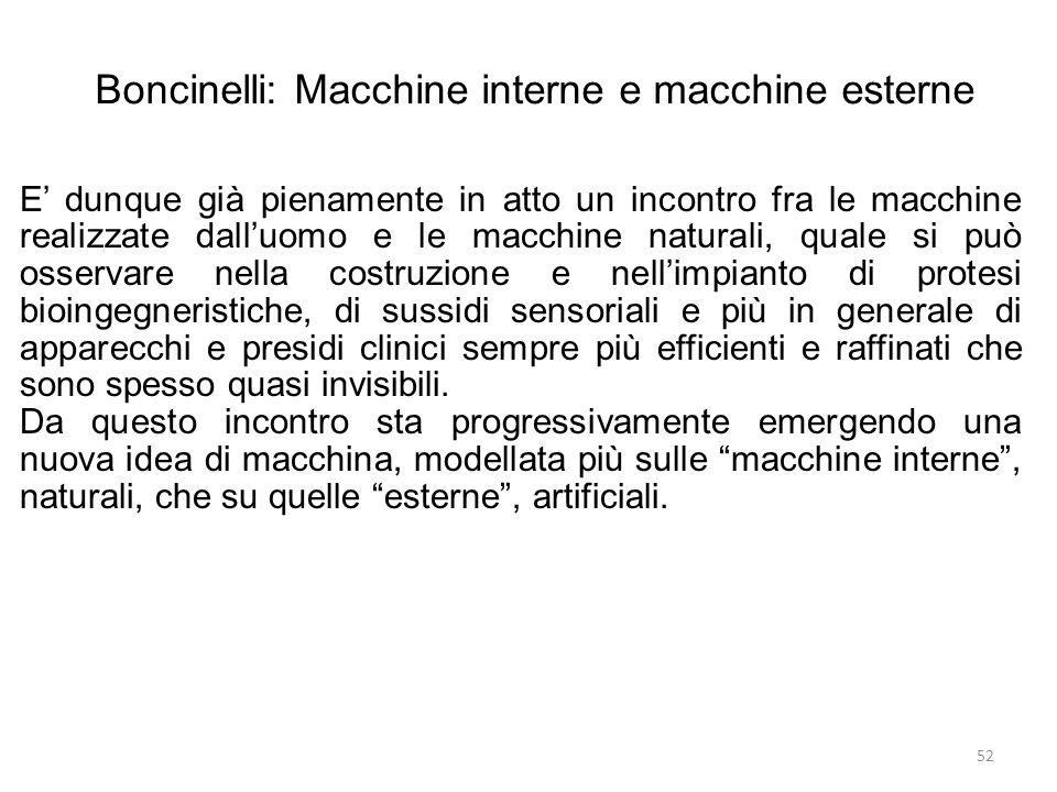 Boncinelli: Macchine interne e macchine esterne