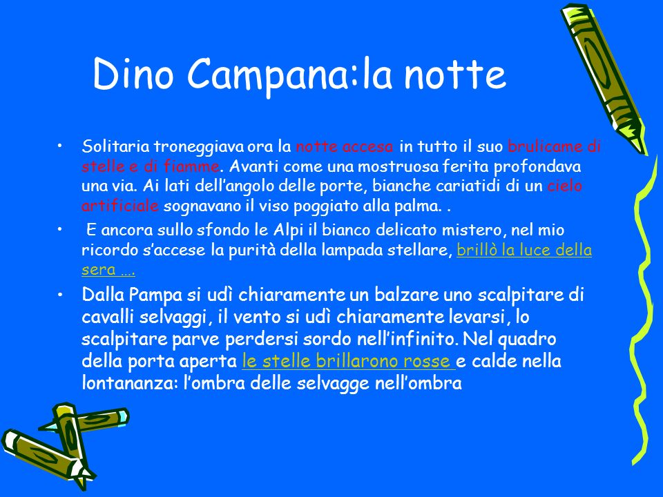 Dino Campana:la notte