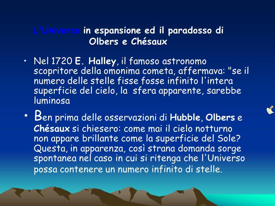L Universo in espansione ed il paradosso di Olbers e Chésaux