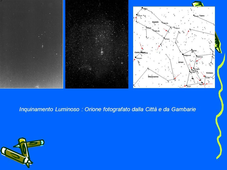 Inquinamento Luminoso : Orione fotografato dalla Città e da Gambarie