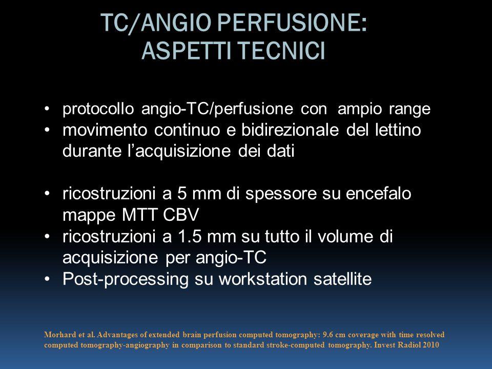 TC/ANGIO PERFUSIONE: ASPETTI TECNICI