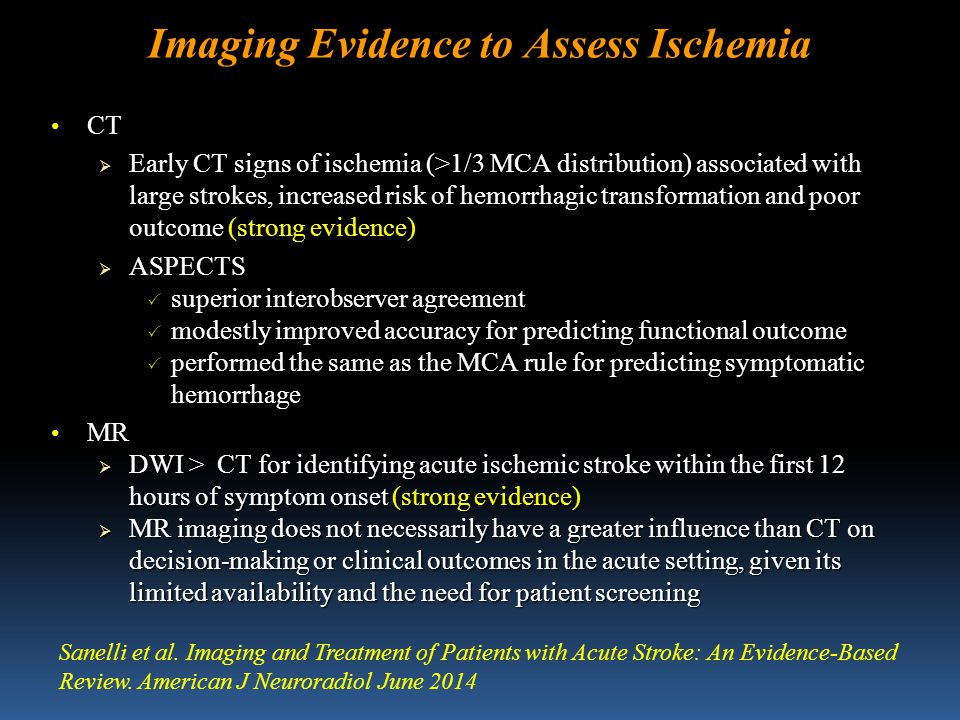 Imaging Evidence to Assess Ischemia