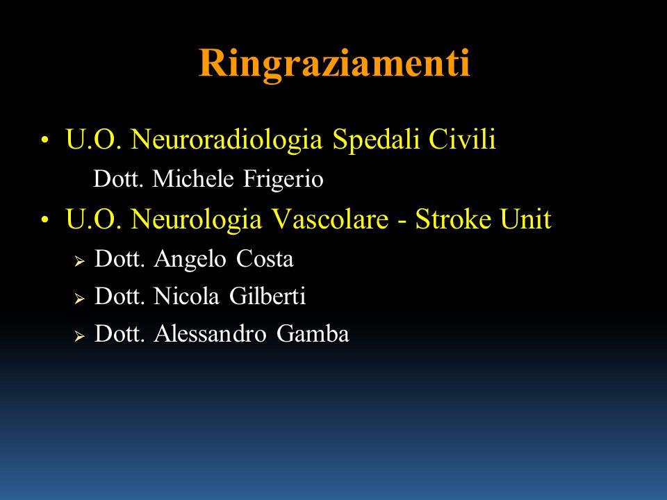 Ringraziamenti U.O. Neuroradiologia Spedali Civili