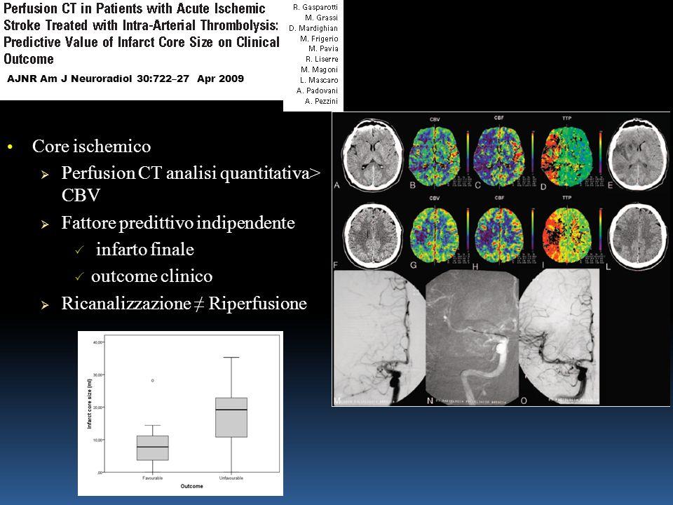 Perfusion CT analisi quantitativa> CBV