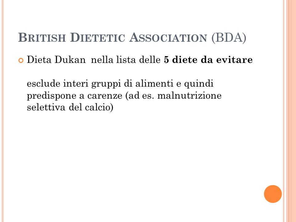 British Dietetic Association (BDA)