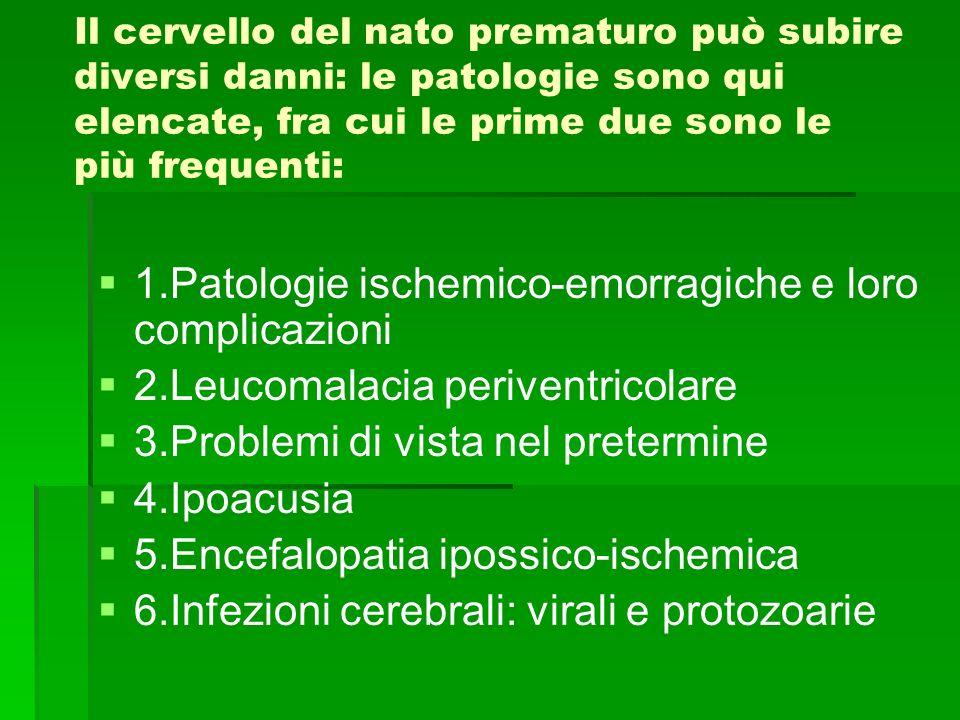 1.Patologie ischemico-emorragiche e loro complicazioni