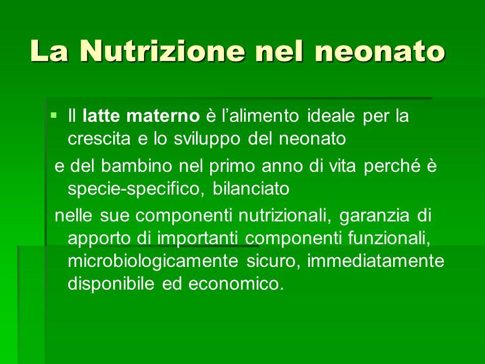 La Nutrizione nel neonato