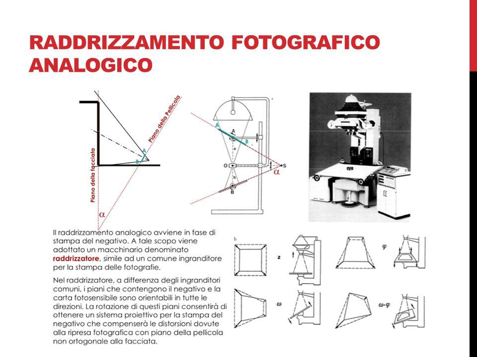 raddrizzamento fotografico analogico
