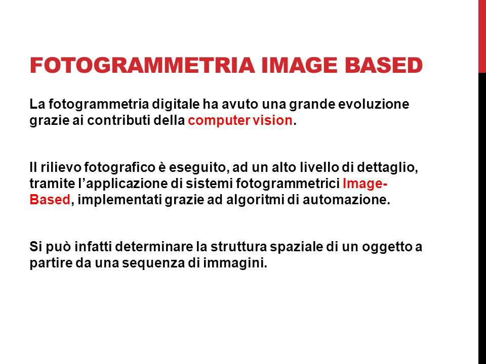 FOTOGRAMMETRIA IMAGE BASED