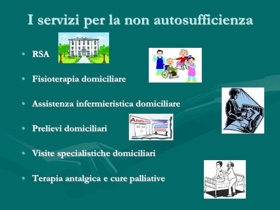I servizi per la non autosufficienza