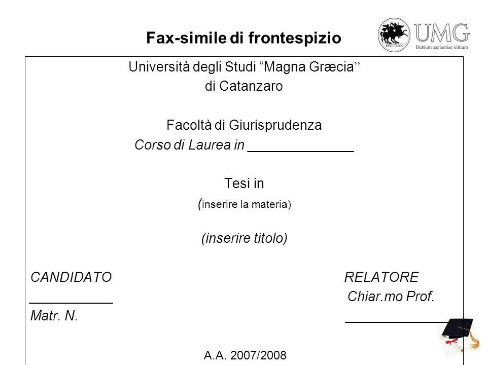 Fax-simile di frontespizio