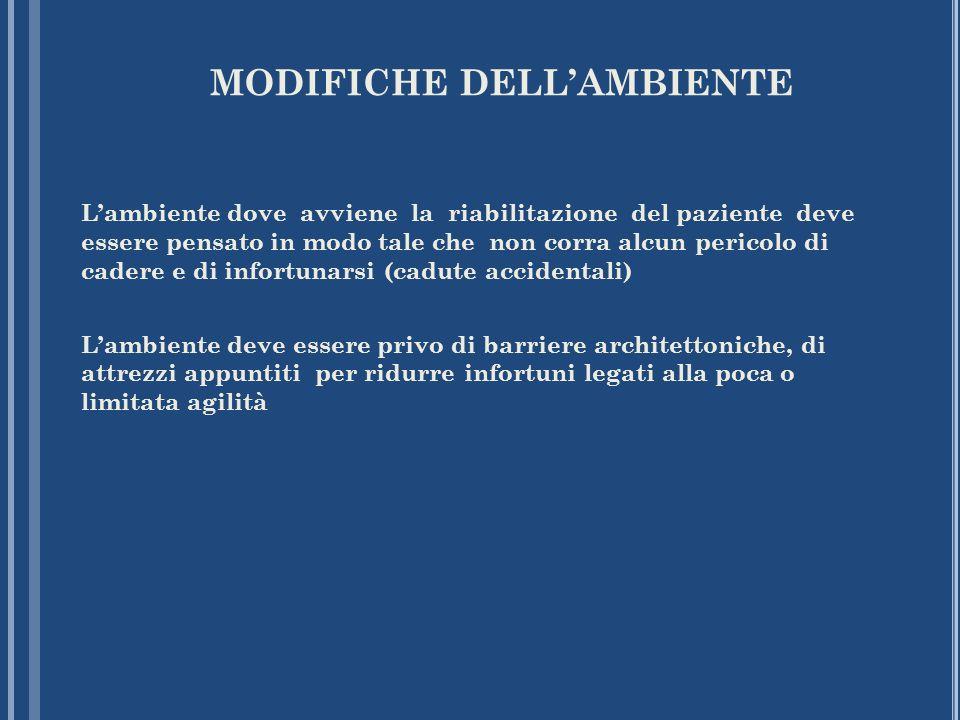MODIFICHE DELL'AMBIENTE