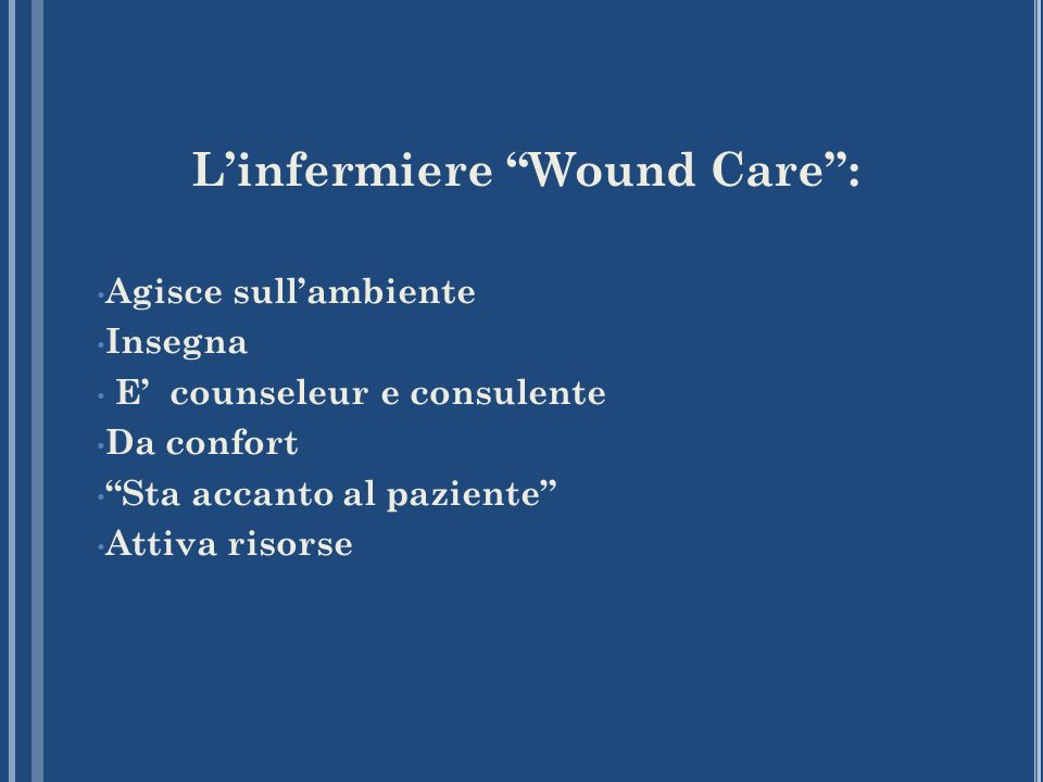 L'infermiere Wound Care :