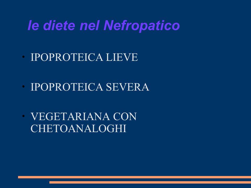 le diete nel Nefropatico