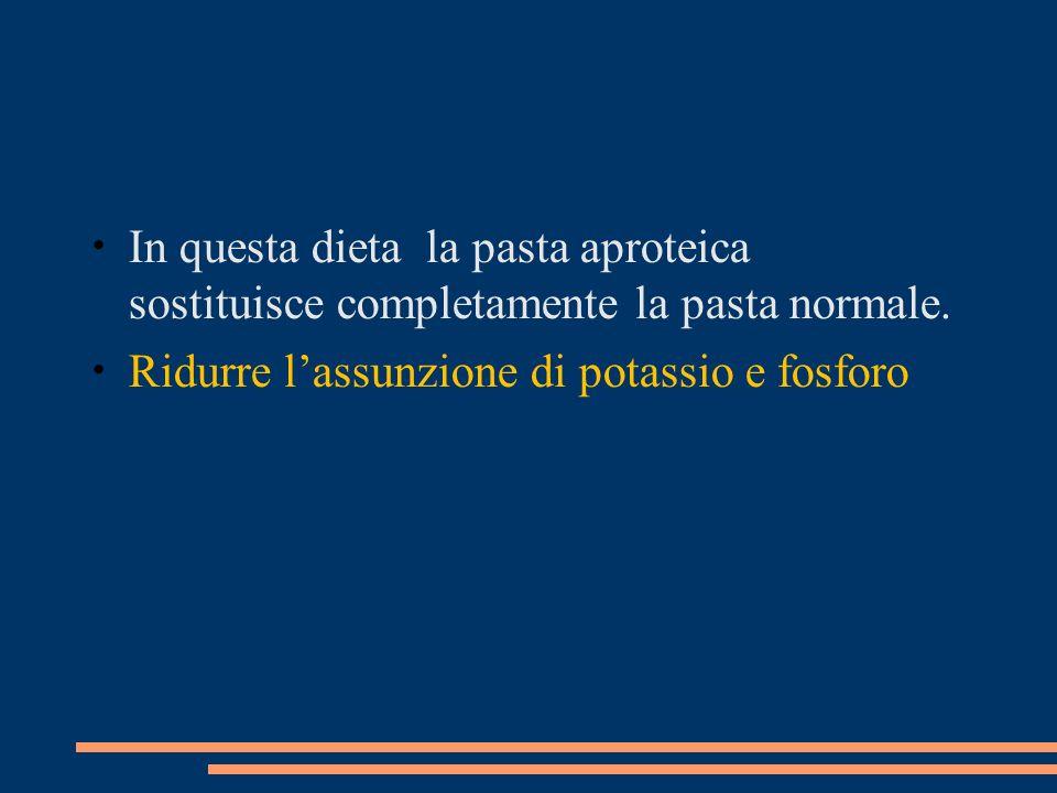 In questa dieta la pasta aproteica sostituisce completamente la pasta normale.