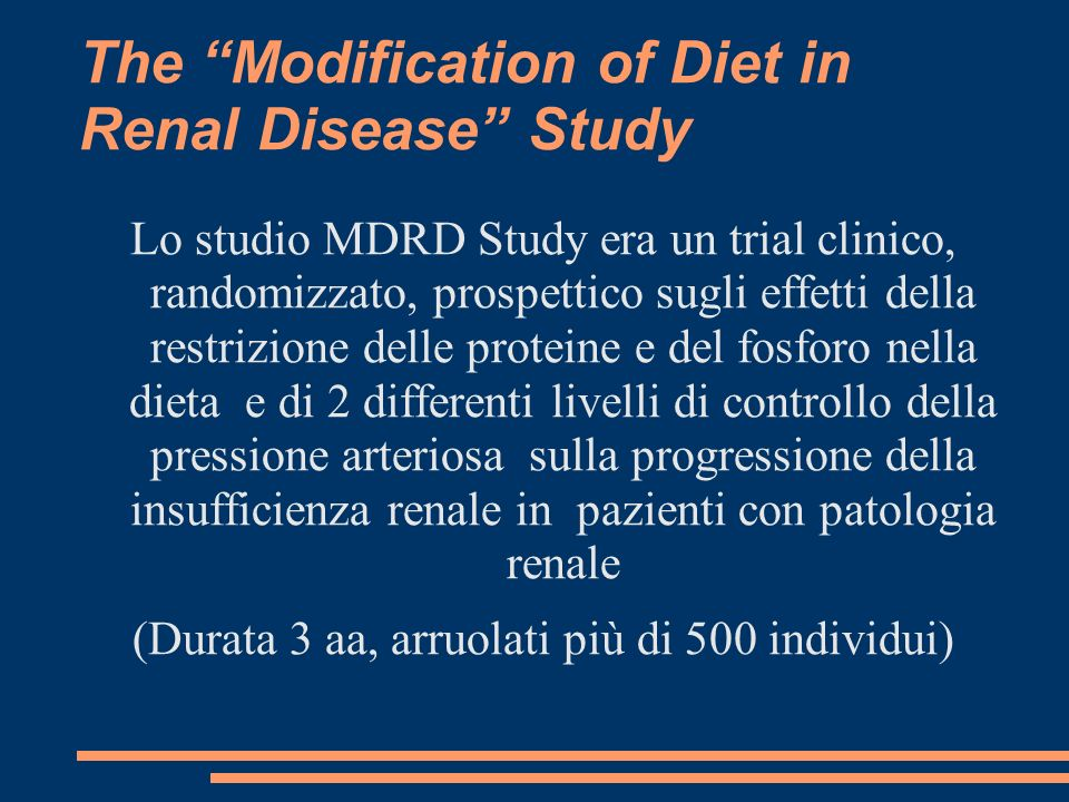 The Modification of Diet in Renal Disease Study