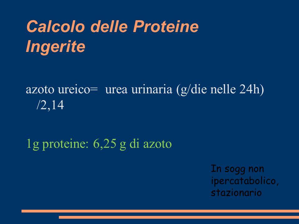 Calcolo delle Proteine Ingerite