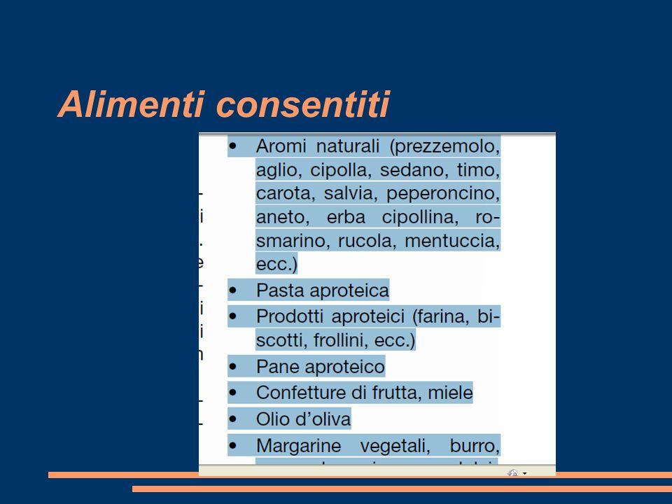 Alimenti consentiti