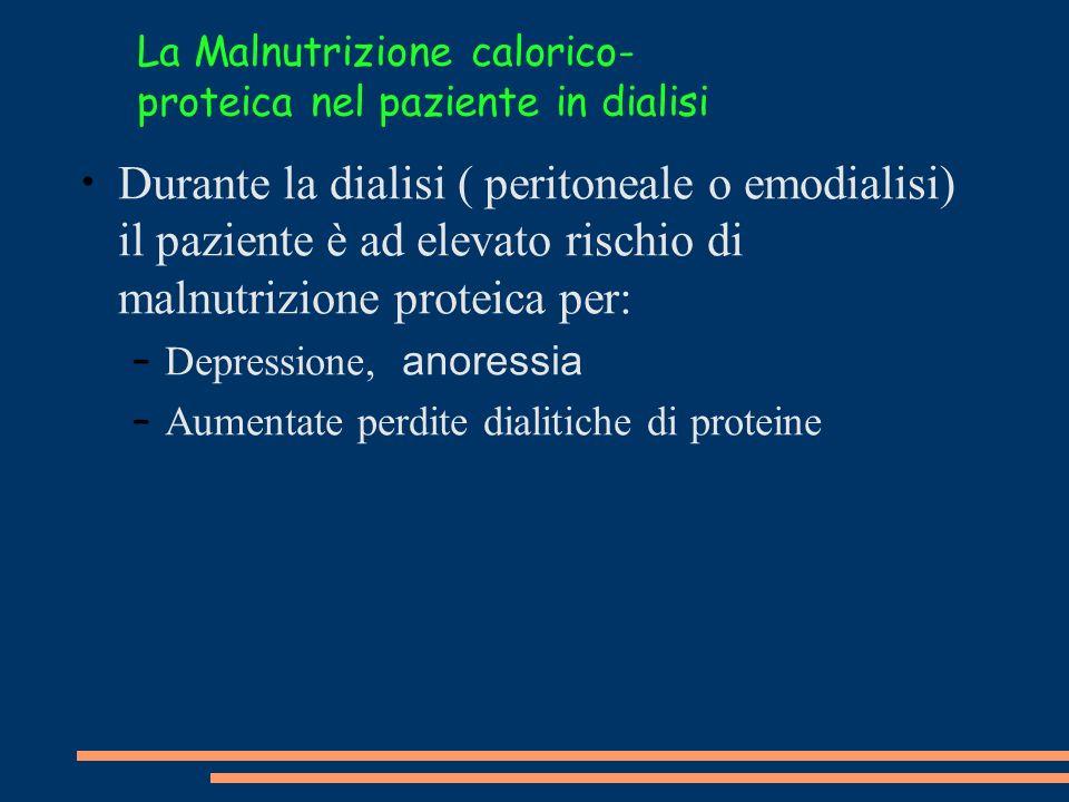 La Malnutrizione calorico-proteica nel paziente in dialisi