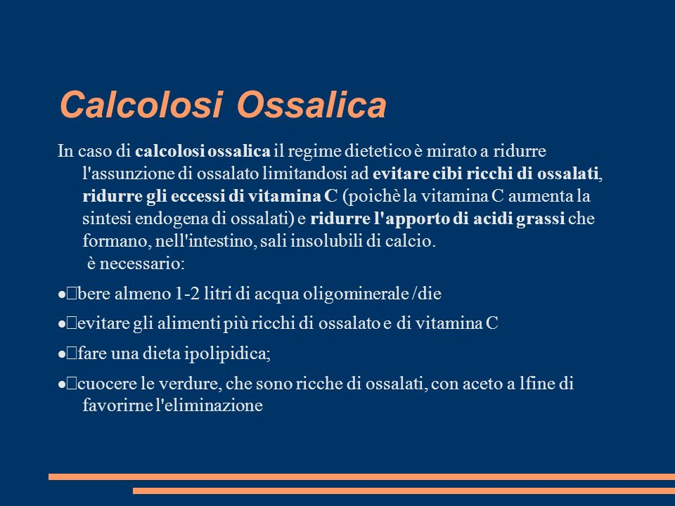 Calcolosi Ossalica