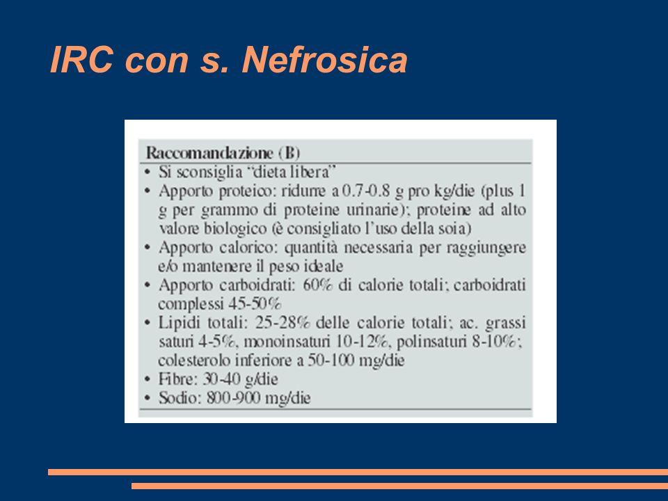 IRC con s. Nefrosica