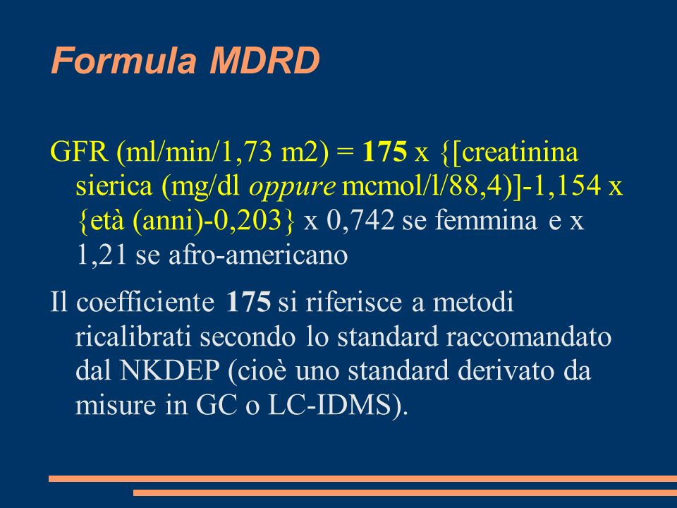 Formula MDRD