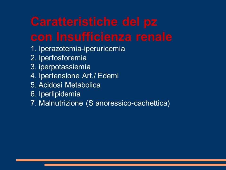 Caratteristiche del pz con Insufficienza renale