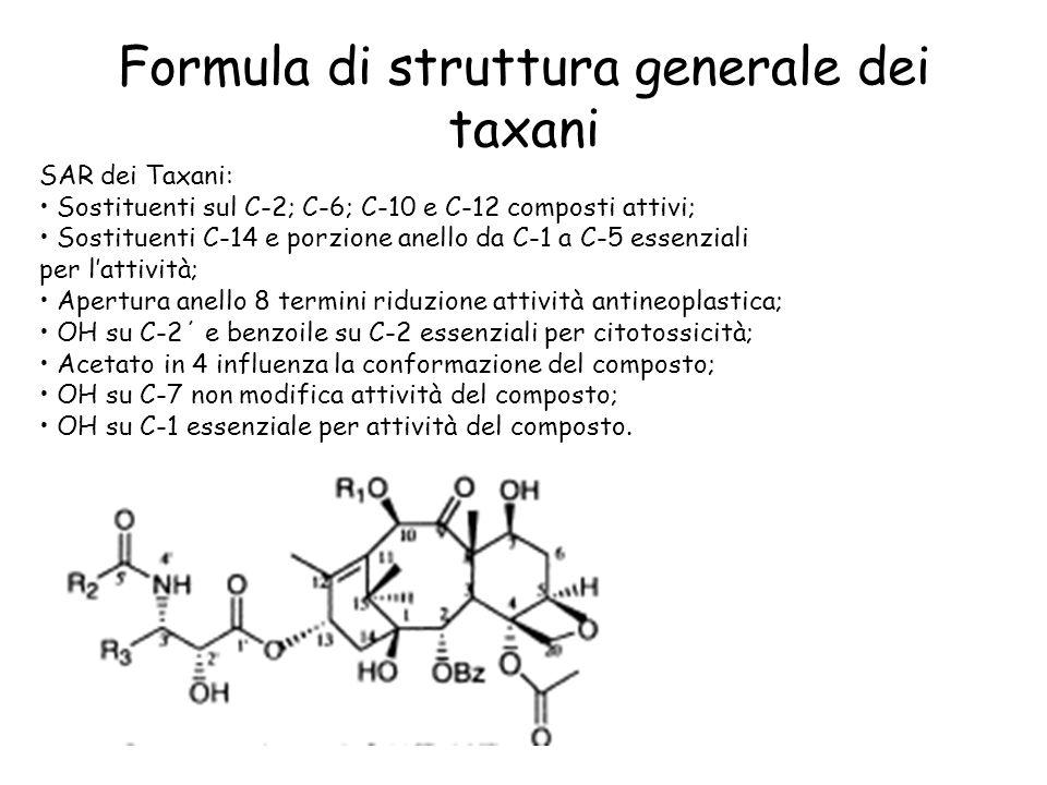 Formula di struttura generale dei taxani