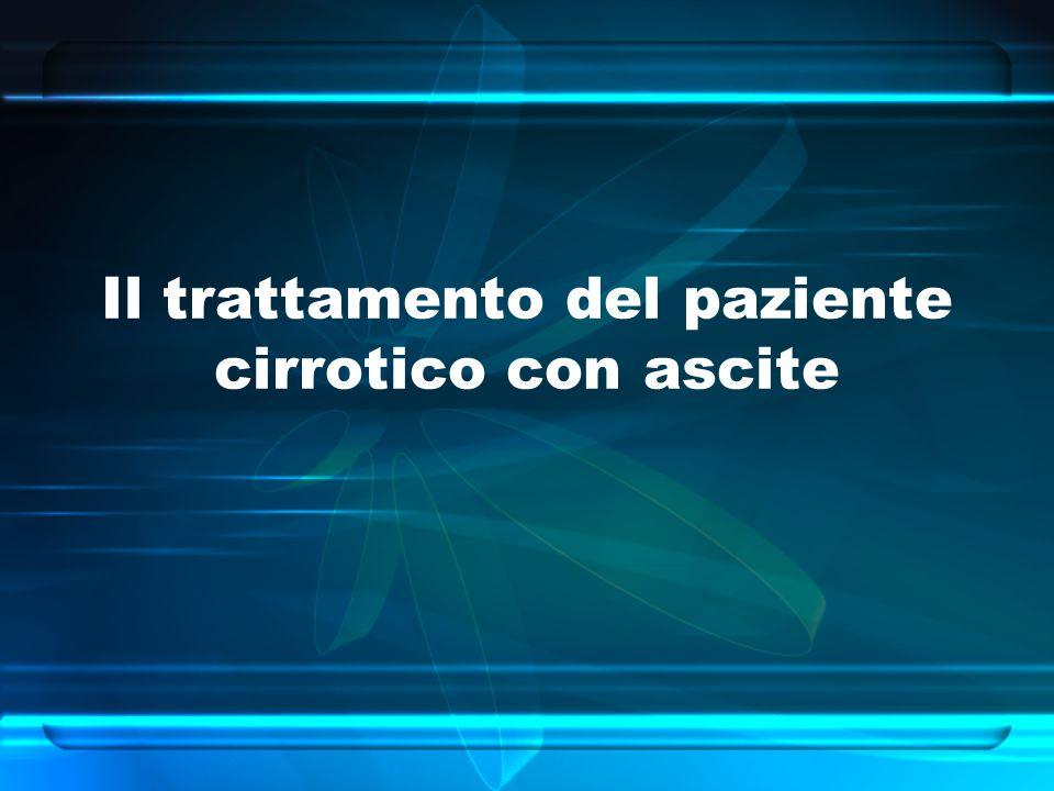 Il trattamento del paziente cirrotico con ascite